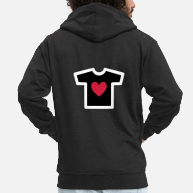 Shape Underwear ★ Design colors changeable ★ T-shirt with heart - Men's Premium Zip Hoodie