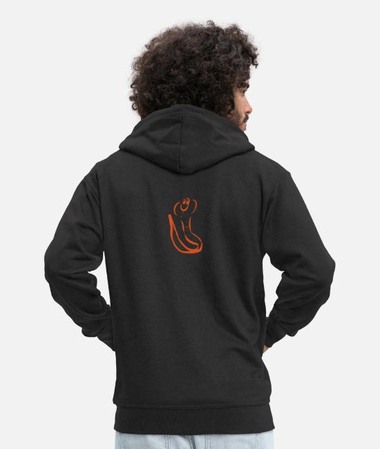 Cobra Hoodies & Sweatshirts - Karla Kobra - Men's Premium Zip Hoodie black