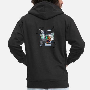 Comic Mimi's Friends Hip Hop Joker - Men's Premium Zip Hoodie