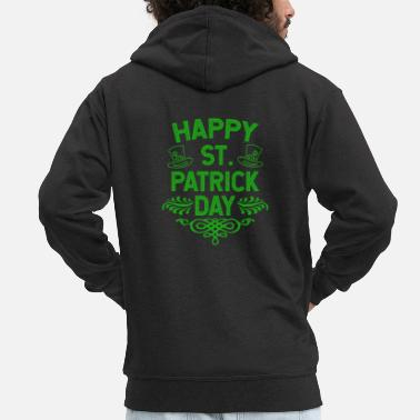 Day Happy St Patrick's Day Ireland holiday gift - Men's Premium Zip Hoodie