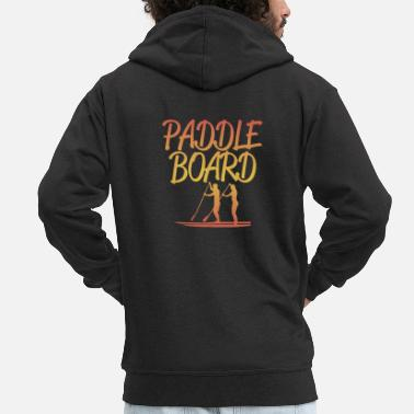 Paddle Stand Up Paddleboarding Design - Paddle Board - Men's Premium Zip Hoodie