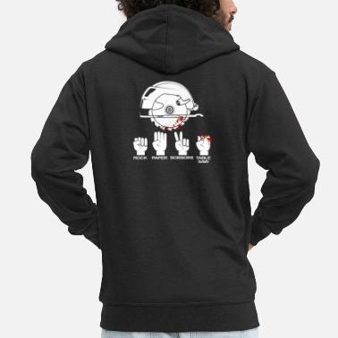 Paper Table saw carpenter and woodworker gift - Men's Premium Zip Hoodie