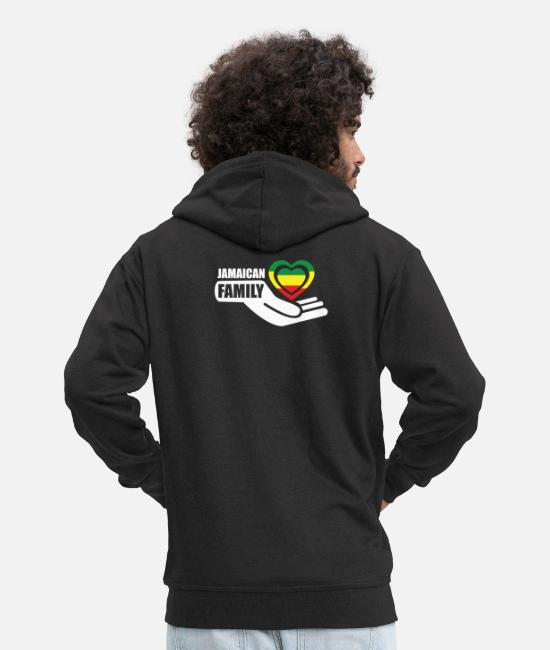 Rasta Hoodies & Sweatshirts - Jamaica, Reggae and Rasta Design - Men's Premium Zip Hoodie black