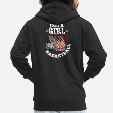 Friends Just A Girl Who Loves Basketball Player Family - Men's Premium Zip Hoodie