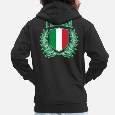 Cefalü Italia: Italian Collegiate Coat of Arms - Men's Premium Zip Hoodie