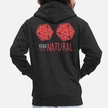 Board Board Game RPG RPG Board Games larp D20 - Men's Premium Zip Hoodie