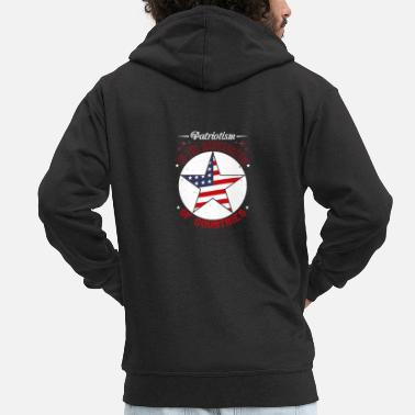 Patriot Day Patriot Day - Patriotism is narcissim - Men's Premium Zip Hoodie