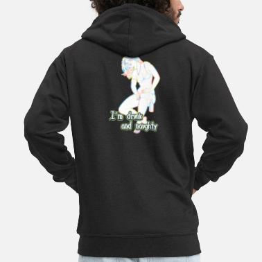 Nude I am drunk and naughty - Men's Premium Zip Hoodie