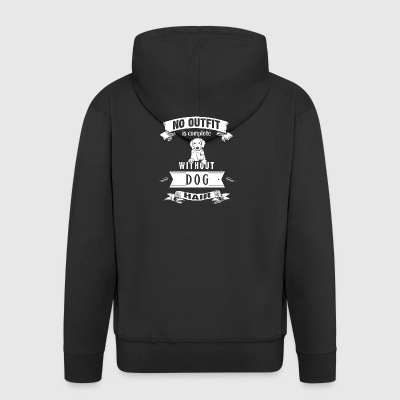 No Outfit Is Complete Without Dog Hair - Männer Premium Kapuzenjacke