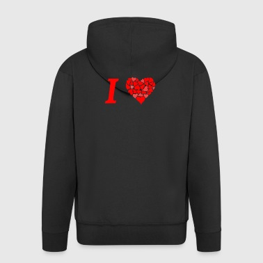 I love I love in Love - Men's Premium Hooded Jacket