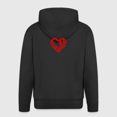 Heart Love Love - Men's Premium Hooded Jacket
