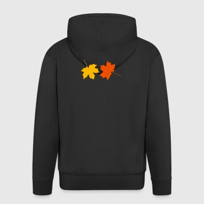 Autumn leaves - Men's Premium Hooded Jacket