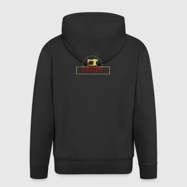 Sewing machine design - Men's Premium Hooded Jacket