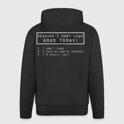 Good day funny sayings - Men's Premium Hooded Jacket