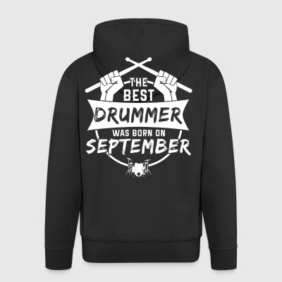 The best drummers were born in September - Men's Premium Hooded Jacket