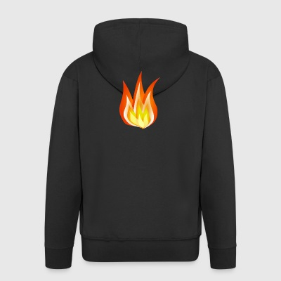FIRE - Men's Premium Hooded Jacket