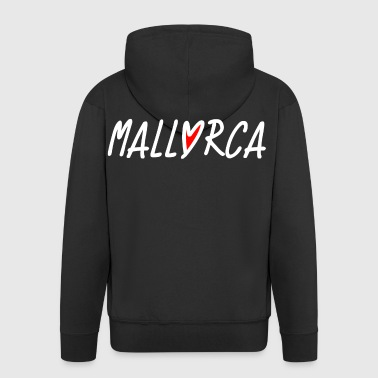 Mallorca Love Heart - Dream of Mallorca - Men's Premium Hooded Jacket