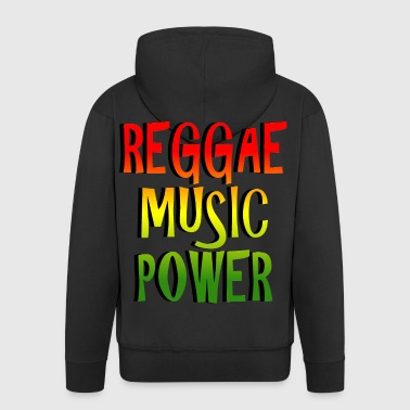 reggae music power - Men's Premium Hooded Jacket