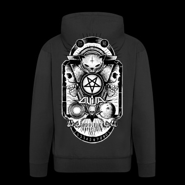 Logo Ouija complete - Men's Premium Hooded Jacket