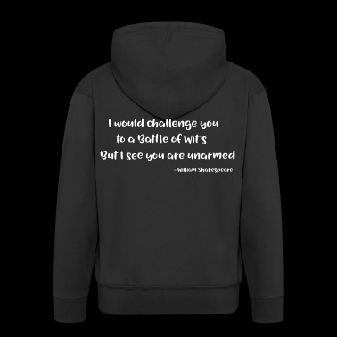 William Shakespeare Funny Quotes - Men's Premium Hooded Jacket