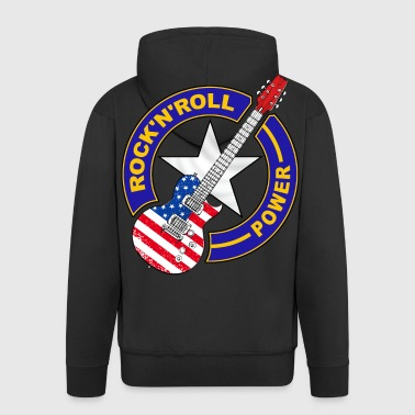 us rock'n'roll power 08 - Men's Premium Hooded Jacket