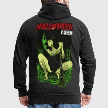 HALLOWEEN WITCH - Halloween witches horror gift - Men's Premium Hooded Jacket