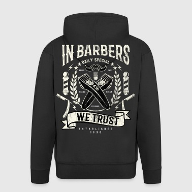 IN BARBERS - Beauty and Barber Shirt Mot - Men's Premium Hooded Jacket