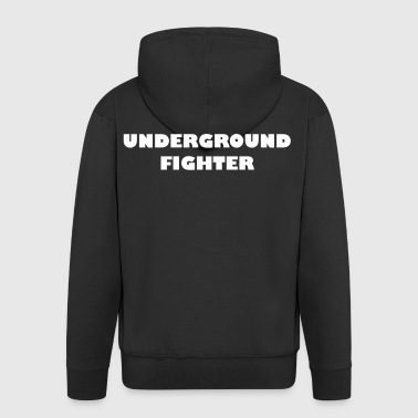 Underground Fighter - Men's Premium Hooded Jacket