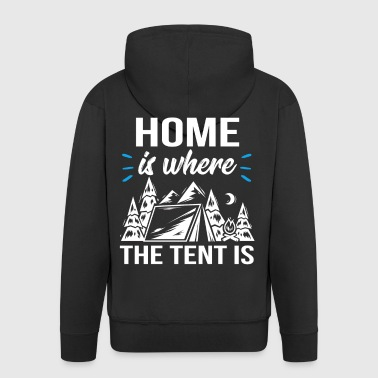 Home is where the tent is - Männer Premium Kapuzenjacke