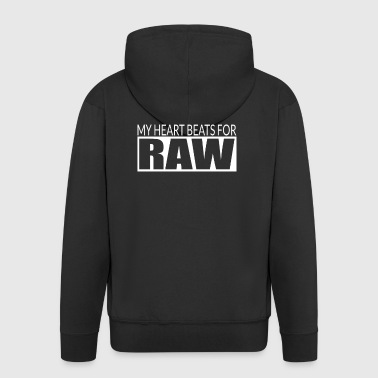 MY HEARTBEATS FOR RAW - Men's Premium Hooded Jacket