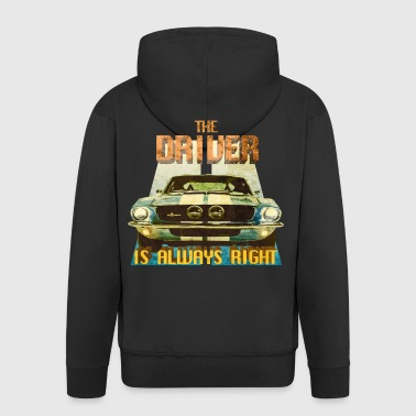 The Driver Is Always Right - Men's Premium Hooded Jacket