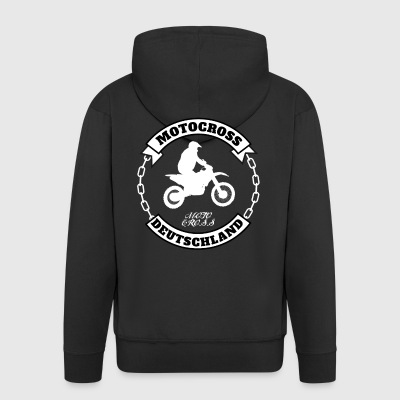 Motocross Germany - Men's Premium Hooded Jacket