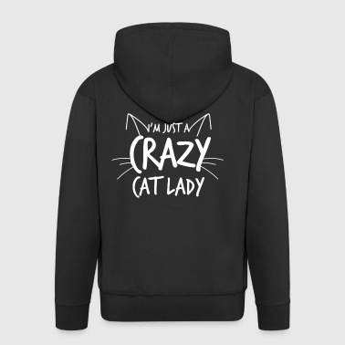 Crazy Cat Lady - Premium Hettejakke for menn