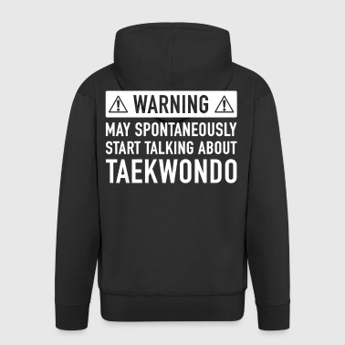 Funny Taekwondo Gift Idea - Men's Premium Hooded Jacket
