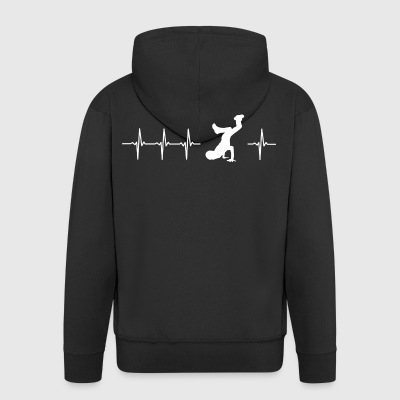 I love breakdancing - Men's Premium Hooded Jacket