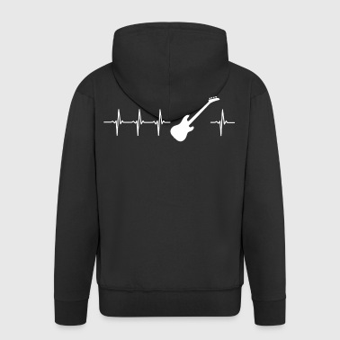 I love electric guitar (guitar heartbeat) - Men's Premium Hooded Jacket