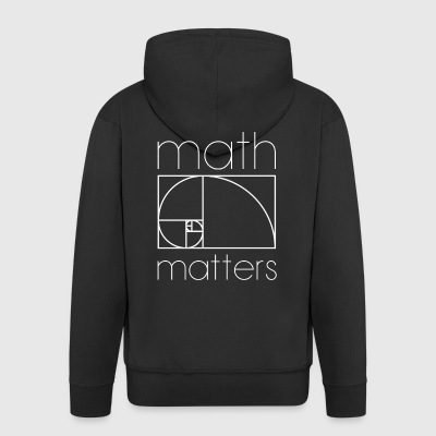 MATH MATTERS MATHEMATICS SHIRT - Men's Premium Hooded Jacket