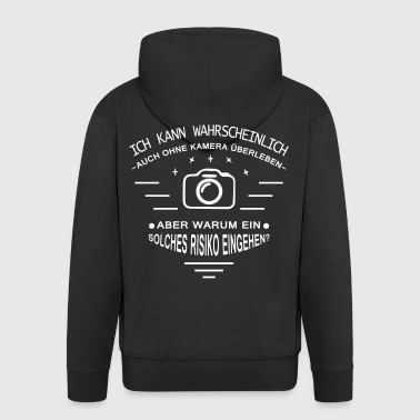Life without camera? - Men's Premium Hooded Jacket