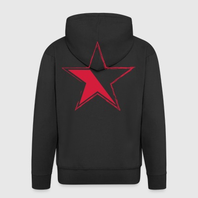 star for black garments - Men's Premium Hooded Jacket