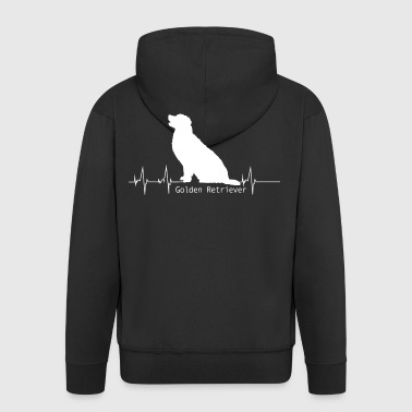 Golden Retriever Shirt-Heartbeat - Männer Premium Kapuzenjacke