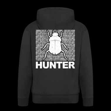 Coder Bug Hunter Geek T-shirt - Felpa con zip Premium da uomo