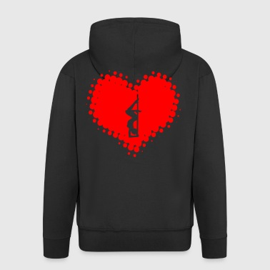 I Love Pole Dance - Dancing Poledance Striptease - Men's Premium Hooded Jacket