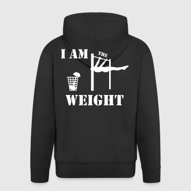 I am the weight - Men's Premium Hooded Jacket