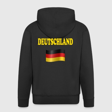 Germany flag German flag T-Shirt Hoodie - Men's Premium Hooded Jacket