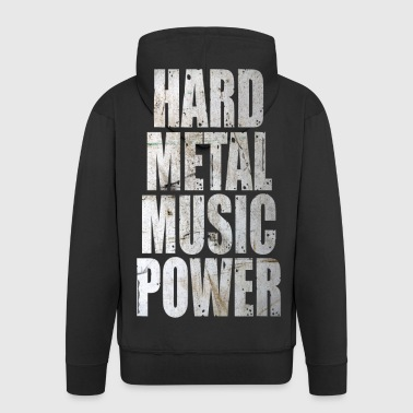 Hard metal music power - Veste à capuche Premium Homme