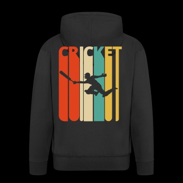 Awesome 70's Vintage Retro Cricket Gifts. SALE - Men's Premium Hooded Jacket