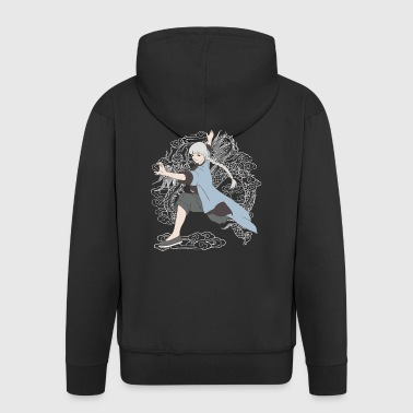 Or chi kung fu girl - Men's Premium Hooded Jacket