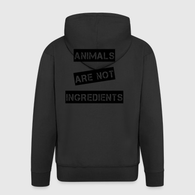 Animals are not ingredients - Men's Premium Hooded Jacket