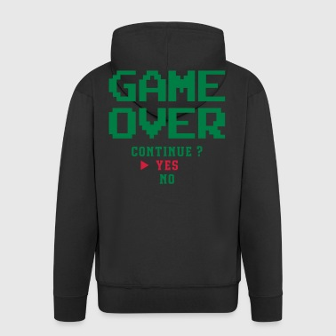 Game over - Felpa con zip Premium da uomo