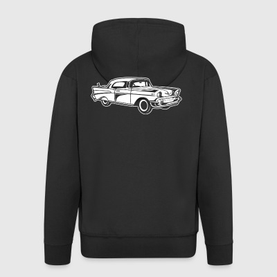 Chevy Bel Air / Oldtimer 01_white - Men's Premium Hooded Jacket
